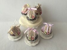 Cupcake Shape Scented Candles Frosting Glitter Sprinkles Pedestal Plate NEW