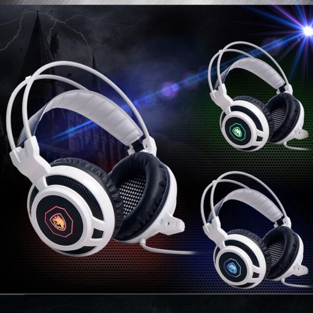 Sades Stereo 7.1 Surround Headset USB Headband PC Notebook Pro Gaming w/Mic cs