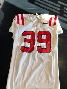 4d62cfa4 Game Worn Used Cornell Big Red Football Jersey Nike #39 Size L | eBay
