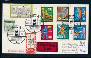 10348) Spécial R-ticket De Cologne Int. Ifma, Cirés. Coursier-lettre Sst 26.9.70-afficher Le Titre D'origine