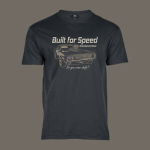 T-Shirt-Built-for-Speed-MOPAR-Hot-Rod-Muscle-US-Car-Charger-V8-grau