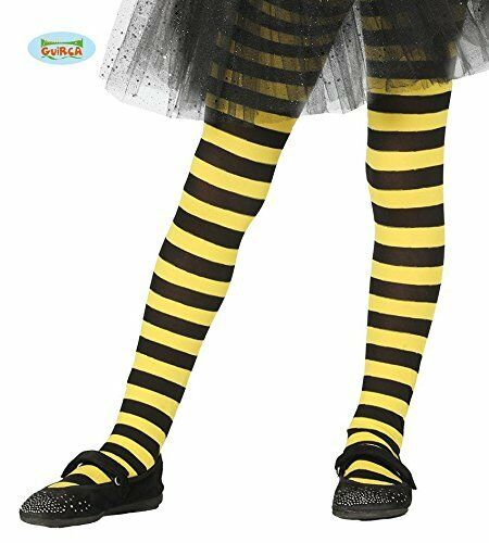 29c0361abcc07 Girls Bumble Bee Black Tights Yellow Striped Bumblebee Insect Kids Fancy  Dress for sale online | eBay