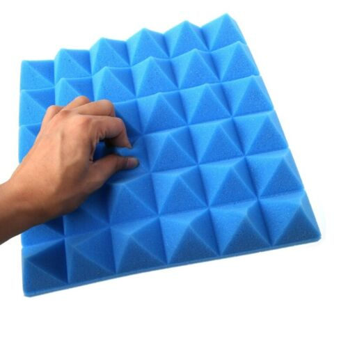 Acoustic Tiles Soundproofing Foam Sound Absorption Wall Panels Wedge 30x30x5cm