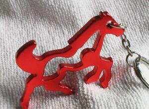 Schlüsselanhänger - ORANGES WILDPFERD - aus Aluminium - Gesamtlänge ca. 11 cm
