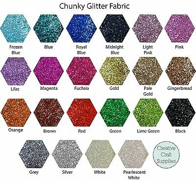 A4 Sheet - Chunky Glitter Fabric for bow making and crafts