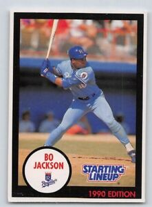 1990  BO JACKSON Kenner Starting Lineup Card KANSAS  CITY ROYALS - Blue