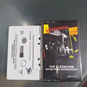 The  KLEZMORIM NOTES FROM THE UNDERGROUND -  New Wave    Cassette Tape 1984 EX