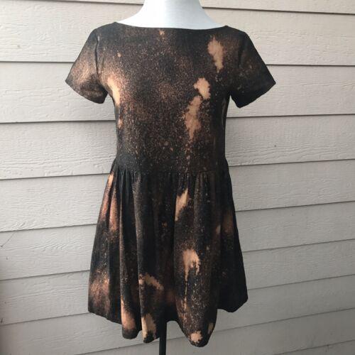 Lykke Wullf Babydoll Dress Cosmic Landscapes Brown