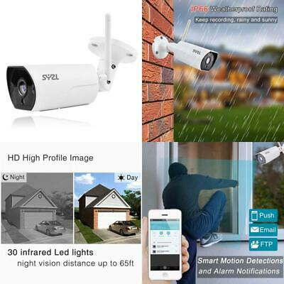 SY2L HD Wireless WiFi 1080p Outdoor Security Night Vision Bullet Cameras