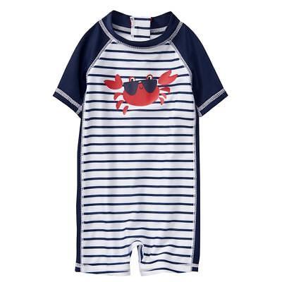 NWT Gymboree Baby Boys Rash Guard Swimsuit Swim Shop shark UPF 50 6 12 18 24M