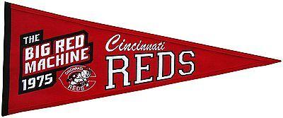 Intelligent Mlb Baseball Cincinnati Reds 1975 Banner Großer Wimpel Pennant Heritage Wolle Fein Verarbeitet Weitere Ballsportarten