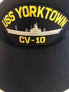 7587052a84c096 USS YORKTOWN CV-10 NAVY SHIP HAT U.S MILITARY BALL CAP U.S.A MADE | eBay