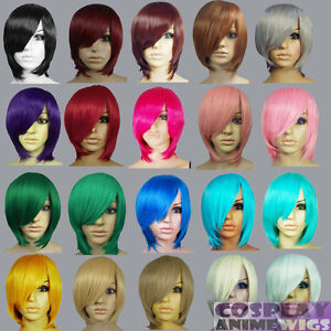 image is loading 16 inch heat resistant all color long layer - Colored Wig
