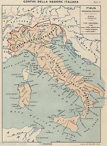 Cartina Politica Italia E Confini.Confini Della Regione Italiana E Politici Carta Geografica Passepartout 1899 Ebay