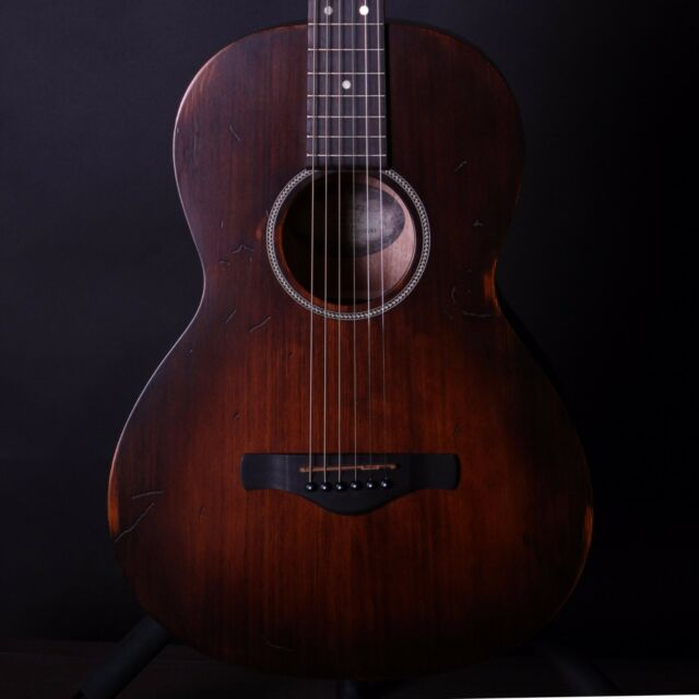 Ibanez Artwood Vintage AVN6 Distressed Tobacco Sunburst Acoustic Parlor Guitar
