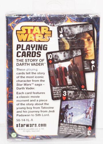 THE STORY OF DARTH VADER DISNEY STAR WARS VILLAIN PLAYING CARDS CARTAMUNDI 2014