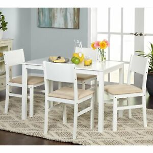 Details about Dining Room Dinette Set Table Chairs 5 Piece Space Saving  Compact Kitchen Nook