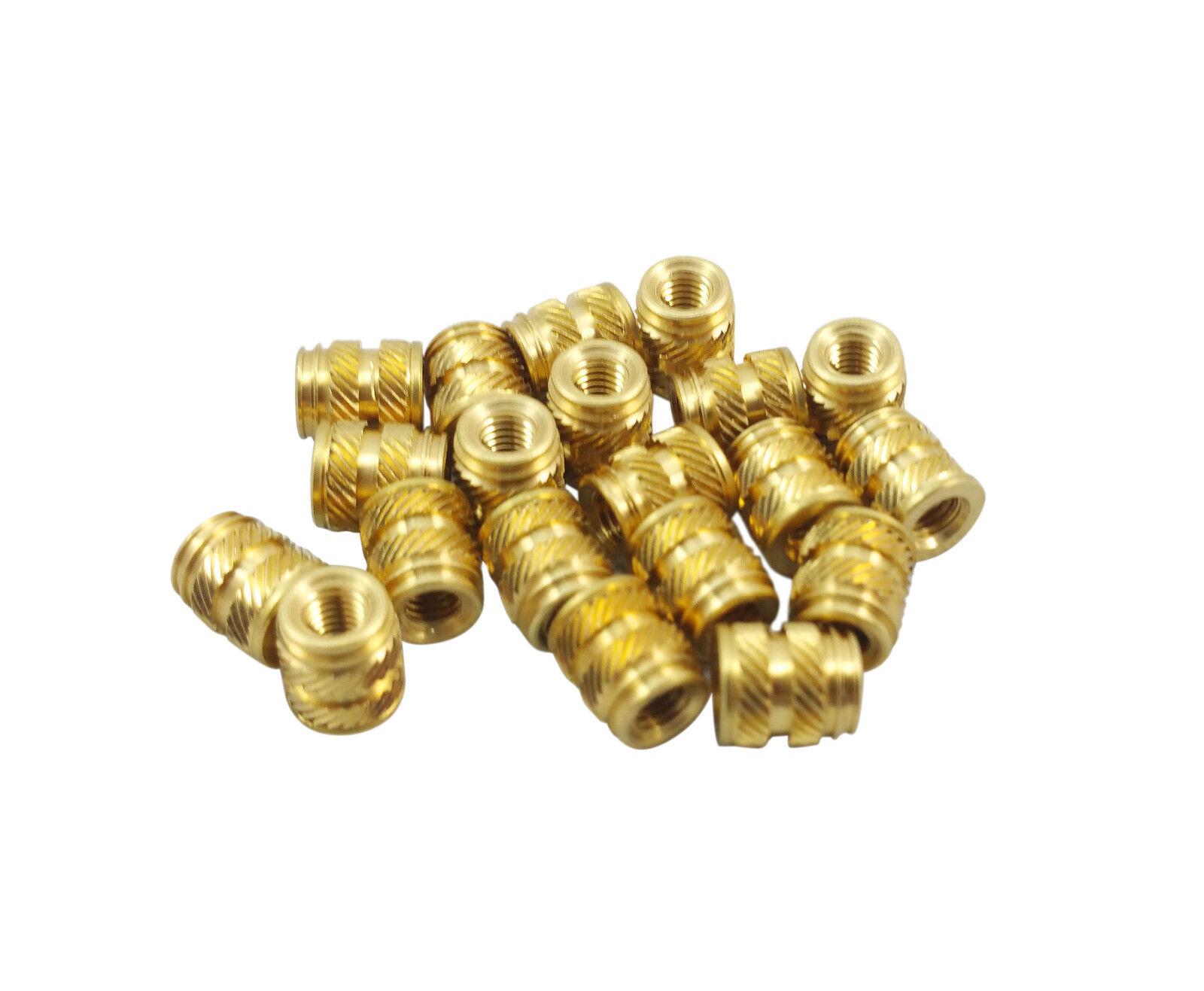 3D Printing Qty 100 M3 3mm M3-0.5 Brass Threaded Metal Heat Set Screw Inserts