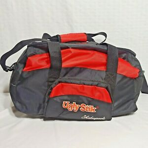 Shakespeare-Ugly-Stik-Fishing-Bag-Tackle-Duffel-Black-and-Red-Sport-Fish-HTF