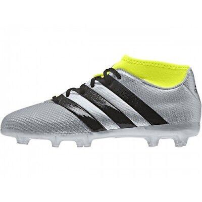 ADIDAS ACE 16.3 PRIMEMESH FGAG JUNIORS FOOTBALL BOOTS SILVERBLACK UK SIZES   eBay