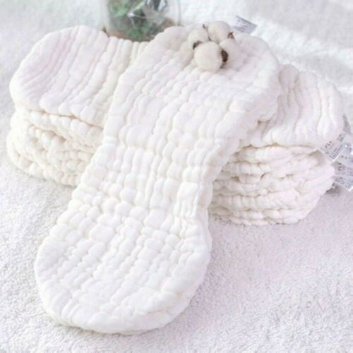 10pcs Pure Cotton Reusable Baby Cloth 12 Layers Diaper Nappy Liners Insert