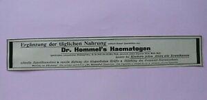 Werbung-Anzeige-um-1900-Dr-Hommel-s-Haematogen-Kinder-Nahrung-Ergaenzung-Kraft