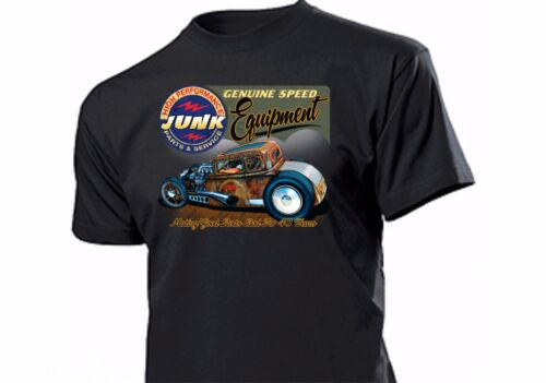 HOT ROD GARAGE SHIRT RAT ROD ROCKABILLY CUSTOM Junk Flathead Genuine Speed Gear