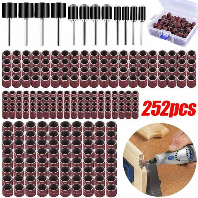 132X Drum Sanding Kit  Dremel Accessories Rotary Tool For Nail Drill Bits