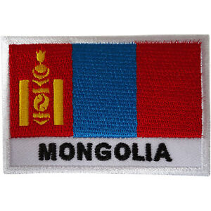 Mongolia-Flag-Patch-Iron-Sew-On-Mongolian-Embroidery-Badge-Embroidered-Applique