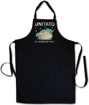 Unitato Koch Grembiule Unicorn Potato Unicorno Arcobaleno Rainbow Patata Fun-