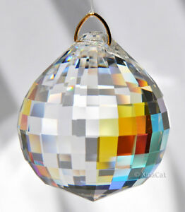 Huge-50mm-Asfour-Sphere-Crystal-Clear-AB-Disco-Ball-Prism-SunCatcher-Feng-Shui