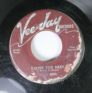 Hear-Blues-45-Jimmy-Reed-I-Love-You-Baby-My-First-Plea-On-Vee-Jay