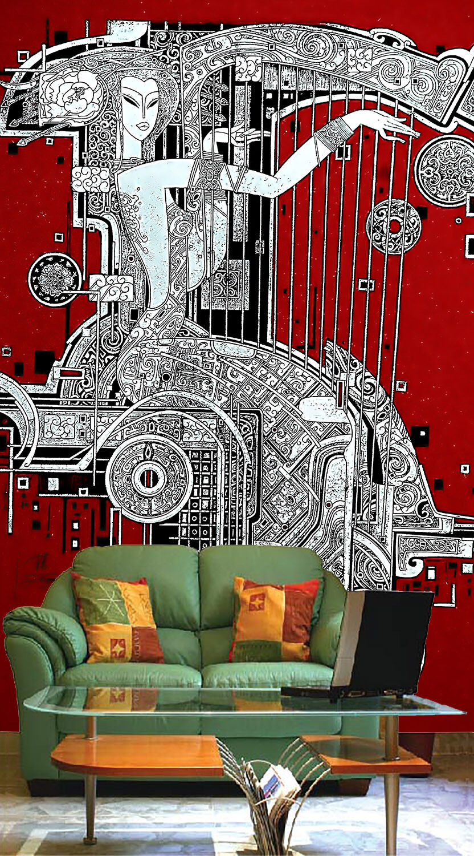 3D Beautiful  Woman Paper Wall Print Decal Wall Wall Murals AJ WALLPAPER GB