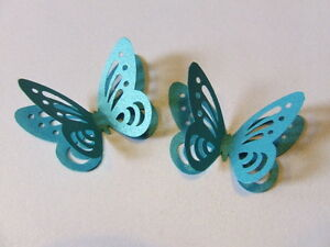 20-3d-BUTTERFLY-WEDDING-TABLE-CONFETTI-PEARLESCENT-DEEP-AQUA-TURQUOISE-TEAL-BLUE
