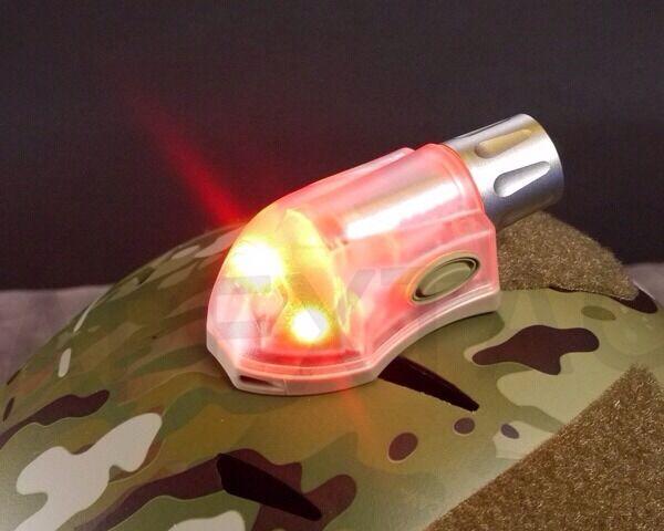 Element EX262 Manta Signal Velcro Strobe (Red + IR)(Tan) for DEVGRU PJ Helmet