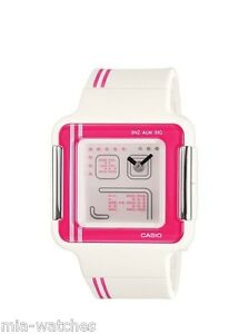 7dcc1808c Casio LCF21-4 Ladies POP TONE Pink White Resin RETRO Sports Analog ...