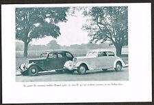 1930s Old Antique Vintage 1934 Peugot 401 & 601 Car Auto Automobile Photo Print