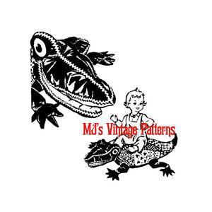 Huge Stuffed Alligator Vintage Pattern Ebay