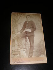Cdv old photograph soldier cane by Cumming at Aldershot c1890s