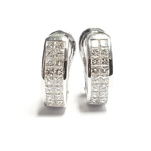 F-VS-2-50-Ct-Princess-Cut-Diamond-Hoop-Earrings-18k-White-Gold-UK-Hallmarked