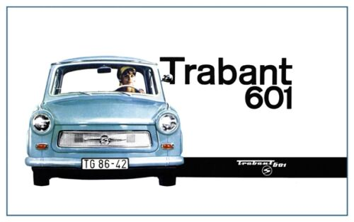A2 Print Vintage East German Trabant Motor Ad A3