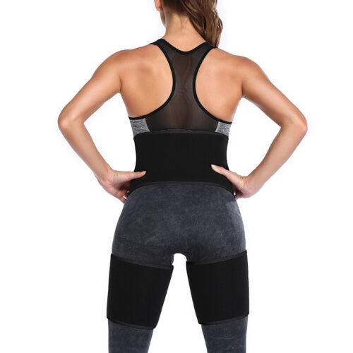 Neoprene Thigh Shaper High Waist Leg Wrap Trimmer Belt Sauna Sweat Body Shaper