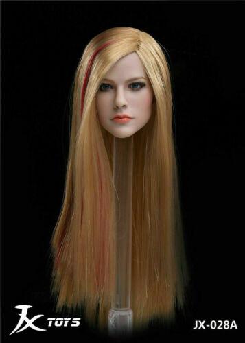 1//6 Avril Lavigne blonde cheveux raides Head Sculpt pour PHICEN TBLeague Figure