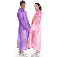 Waterproof Jacket Clear PVC Raincoat Rain Coat Hooded Poncho For Women Men