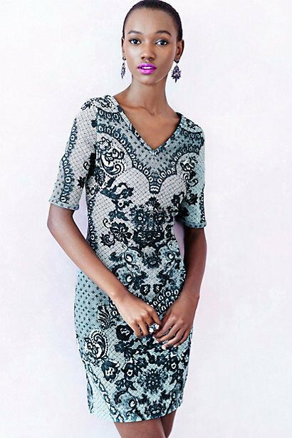e5d9fe495950 Anthropologie Sketched Lace Dress By Yoana Baraschi MSRP $188 NWT New Sz. 10