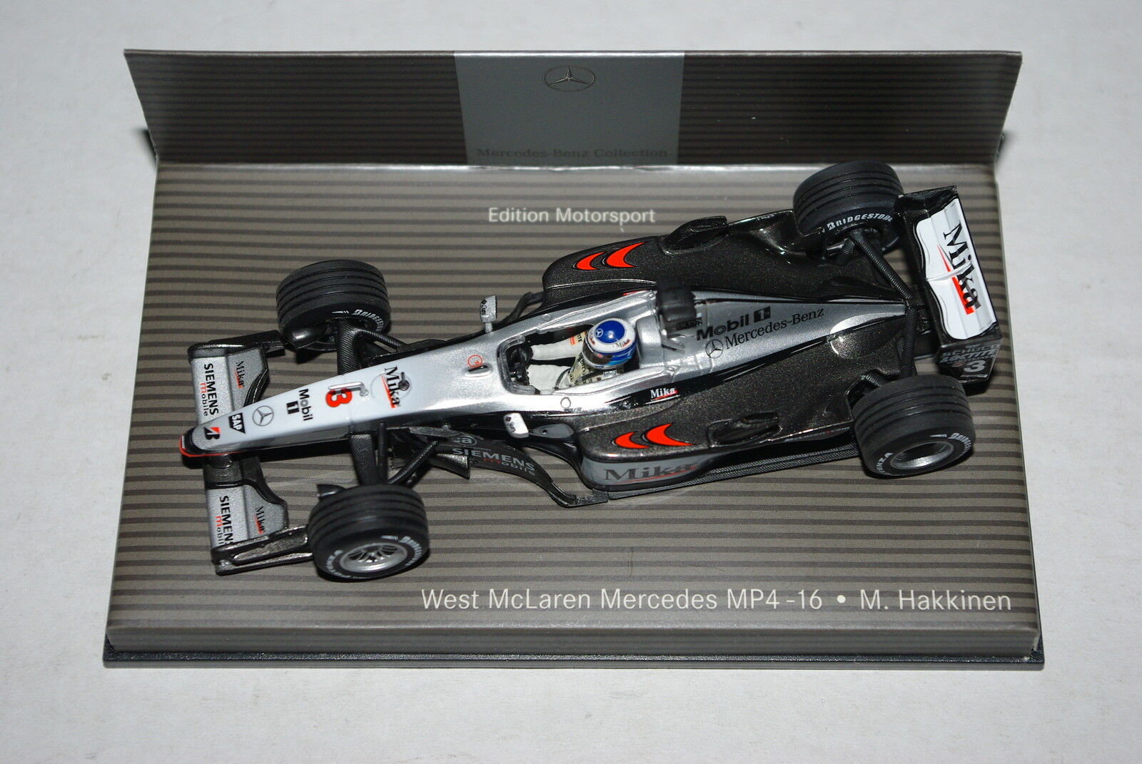 Minichamps F1 1 43 McLAREN MERCEDES MP4 16 MIKA HAKKINEN - DEALER EDITION