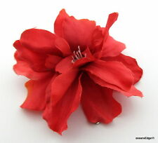 """2 1/2"""" Variegated Coral Apple Blossom Silk Flower Brooch Pin,Corsage,Hat,Scarf"""