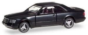MB-E-320-coupe-W124-1993-noir-avec-jantes-gris-alu-Herpa-scale-1-87-HO