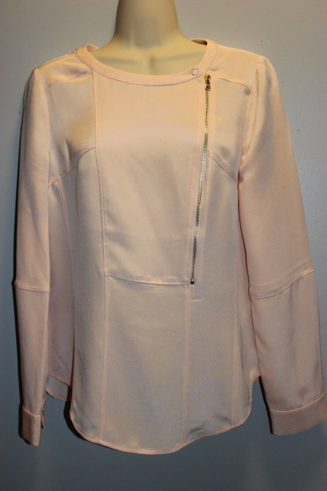 J CREW COLLECTION LUXE SILK MOTO TOP Blouse  4 Style  e2271 DQU 198 NWT