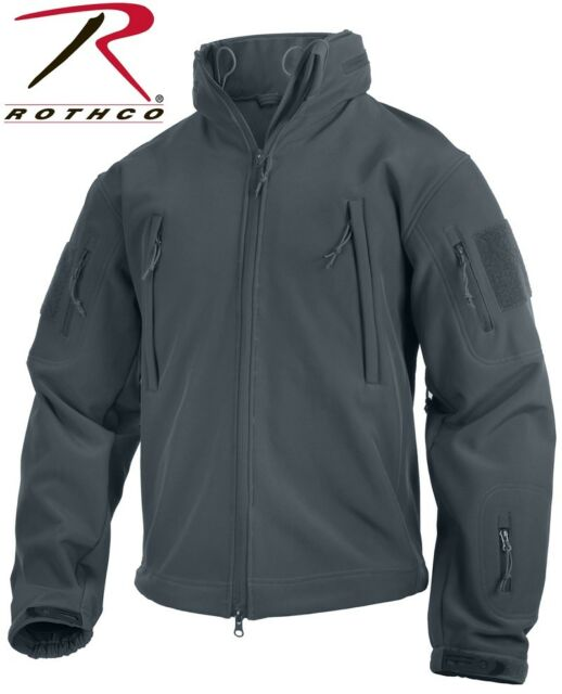 Grey Military Special OPS Tactical Soft Shell Jacket Waterproof Rothco 9824